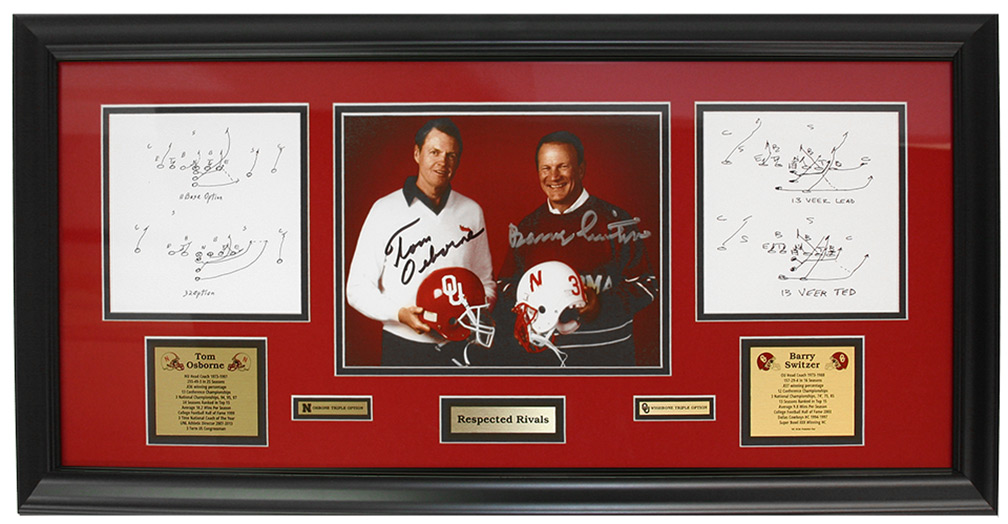 Osborne Switzer Respected Rivals Autographed Plaque