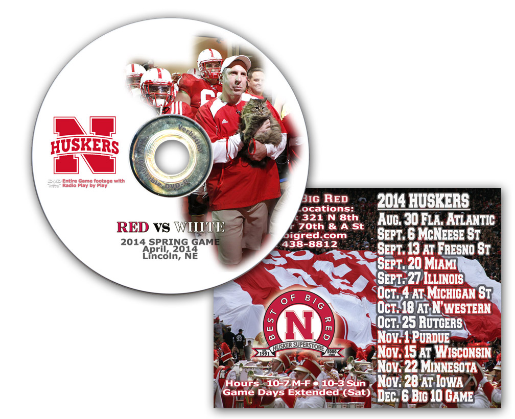 2014 Spring Game on DVD and 2014 Schedule Magnet - DV-21395