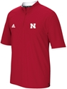 Adidas Cool Temp Husker Sideline 1/4 Zip SS Crew Nebraska Cornhuskers, Nebraska  Men, Huskers  Men, Nebraska  Mens Outerwear , Huskers  Mens Outerwear , Nebraska 2015 Red SDL 1/4 S/S Knit, Huskers 2015 Red SDL 1/4 S/S Knit