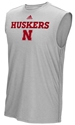 Adidas 2017 Official Sideline Sleeveless Nebraska Cornhuskers, Nebraska  Mens T-Shirts, Huskers  Mens T-Shirts, Nebraska  Mens, Huskers  Mens, Nebraska  Tank Tops, Huskers  Tank Tops, Nebraska Adidas Gray Sleeveless Sideline Split, Huskers Adidas Gray Sleeveless Sideline Split