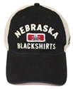 Adidas Blackshirts Patch Meshback Skull Bucket husker football, nebraska merchandise, husker merchandise, nebraska cornhuskers apparel, husker apparel, nebraska apparel, husker hats, nebraska hats, nebraska caps, husker caps, Nebraska Cornhuskers, ADIDAS BLACKSHIRTS PATCH MESHBACK HAT