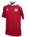 Adidas Hi Vis Husker Climalite Red Coaches Polo Nebraska Cornhuskers, Nebraska Polo%27s, Huskers Polo%27s, Nebraska  Mens Polo%27s, Huskers  Mens Polo%27s, Nebraska Adidas Hi Vis Husker Climalite Red Coaches Polo, Huskers Adidas Hi Vis Husker Climalite Red Coaches Polo