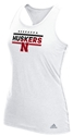 Adidas Ladies Husker Snow Tank Nebraska Cornhuskers, Nebraska  Ladies Tops, Huskers  Ladies Tops, Nebraska  Ladies T-Shirts, Huskers  Ladies T-Shirts, Nebraska  Ladies, Huskers  Ladies, Nebraska  Tank Tops, Huskers  Tank Tops, Nebraska Adidas W White Tank Color Block, Huskers Adidas W White Tank Color Block