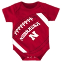 Adidas Nebraska Football Creeper Nebraska Cornhuskers, Nebraska  Infant, Huskers  Infant, Nebraska Adidas Nebraska Football Creeper, Huskers Adidas Nebraska Football Creeper