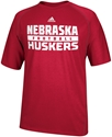 Adidas Red Nebraska Football Short Sleeve Climalite Tee Nebraska Cornhuskers, Nebraska  Mens T-Shirts, Huskers  Mens T-Shirts, Nebraska  Mens, Huskers  Mens, Nebraska  Short Sleeve   , Huskers  Short Sleeve   , Nebraska Adidas Red Nebraska Football Short Sleeve Tee, Huskers Adidas Red Nebraska Football Short Sleeve Tee