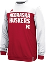 Adidas Scarlet N Cream Shock Energy Long Sleeve Performance Crew Nebraska Cornhuskers, Nebraska Polo%27s, Huskers Polo%27s, Nebraska  Mens Polo%27s, Huskers  Mens Polo%27s, Nebraska Adidas Scarlet N Cream Shock Energy Long Sleeve Performance Crew, Huskers Adidas Scarlet N Cream Shock Energy Long Sleeve Performance Crew