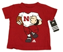 Adidas Infant Football Player Tee Nebraska Cornhuskers, Nebraska  Childrens, Huskers  Childrens, Nebraska Short Sleeve, Huskers Short Sleeve, Nebraska Infant, Huskers Infant, Nebraska Adidas Infant Husker Tee, Huskers Adidas Infant Husker Tee