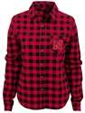 Adidas Youth Husker Buffalo Plaid Flannel Nebraska Cornhuskers, Nebraska  Youth , Huskers  Youth , Nebraska Adidas Youth Husker Buffalo Plaid Flannel, Huskers Adidas Youth Husker Buffalo Plaid Flannel