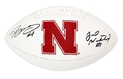 Armstrong Jr and Westerkamp Autogaphed Football Nebraska Cornhuskers, Nebraska  Former Players, Huskers  Former Players, Nebraska Armstrong Jr and Westerkamp Autogaphed Mini Speed Helmet, Huskers Armstrong Jr and Westerkamp Autogaphed Mini Speed Helmet