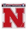 Big Iron N Wall Graphic Decal  Nebraska Cornhuskers, Nebraska Stickers Decals & Magnets, Huskers Stickers Decals & Magnets, Nebraska N logo Wall Graphic Decal 12 inch, Huskers N logo Wall Graphic Decal 12 inch