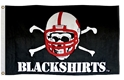 Blackshirts Appliqued Flag Nebraska Cornhuskers, Blackshirts Appliqued Flag, 3 x 5, grommets