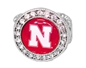 Bling Nebraska Stretch Ring Nebraska Cornhuskers, Nebraska  Ladies Accessories, Huskers  Ladies Accessories, Nebraska  Jewelry & Hair, Huskers  Jewelry & Hair, Nebraska  Ladies, Huskers  Ladies, Nebraska Bling Nebraska Stretch Ring, Huskers Bling Nebraska Stretch Ring