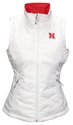 Columbia Reversible Nebraska Puffer Vest Nebraska Cornhuskers, Nebraska  Ladies Outerwear, Huskers  Ladies Outerwear, Nebraska  Ladies, Huskers  Ladies, Nebraska Red W Puffer Vest Columbia, Huskers Red W Puffer Vest Columbia