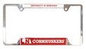 Cornhuskers Metal License Frame Nebraska Cornhuskers, Nebraska Vehicle, Huskers Vehicle, Nebraska Cornhuskers Metal License Frame , Huskers Cornhuskers Metal License Frame