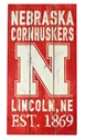 Cornhuskers Painted Fence Section Nebraska Cornhuskers, Nebraska  Framed Pieces, Huskers  Framed Pieces, Nebraska Red Painted Fence 11x20 Wood Sign Legacy, Huskers Red Painted Fence 11x20 Wood Sign Legacy