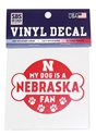 Doggy Nebraska Fan Decal  Nebraska Cornhuskers, Nebraska Stickers Decals & Magnets, Huskers Stickers Decals & Magnets, Nebraska Pet items, Huskers Pet items, Nebraska Dog Husker Fan Decal 3 inch, Huskers Dog Husker Fan Decal 3 inch