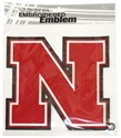 Husker N 8 Inch Embroidered Patch Nebraska Cornhuskers, Nebraska  Tattoos & Patches, Huskers  Tattoos & Patches, Nebraska Stickers Decals & Magnets, Huskers Stickers Decals & Magnets, Nebraska Embroidered Patch, Huskers Embroidered Patch