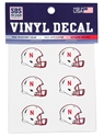 Football Helmet 6 Pack Set Decals Nebraska Cornhuskers, Nebraska Stickers Decals & Magnets, Huskers Stickers Decals & Magnets, Nebraska Football Helmet 6 Pack Set Decals, Huskers Football Helmet 6 Pack Set Decals