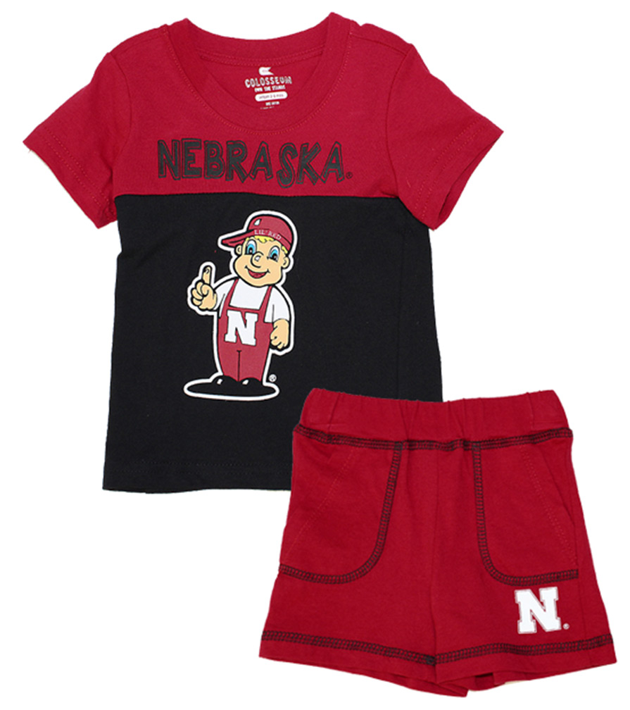 Giddy Up Infant Short N Tee Set Nebraska Cornhuskers, Nebraska  Infant, Huskers  Infant, Nebraska Giddy Up Infant Short N Tee Set, Huskers Giddy Up Infant Short N Tee Set