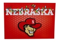 Herbie Husker Light Strand Holiday Card Nebraska Cornhuskers, Nebraska  Holiday Items, Huskers  Holiday Items, Nebraska Light Strand Holiday Card FG, Huskers Light Strand Holiday Card FG