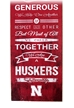 Husker Family Cheer Plaque - FP-A1003