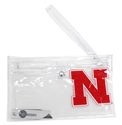 Husker Fan Clear Ticket Wristlet Nebraska Cornhuskers, Nebraska  Bags Purses & Wallets, Huskers  Bags Purses & Wallets, Nebraska  Tailgating, Huskers  Tailgating, Nebraska  Ladies, Huskers  Ladies, Nebraska Husker Fan Clear Ticket Wristlet, Huskers Husker Fan Clear Ticket Wristlet