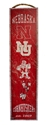 Husker Heritage Banner Wood Sign Nebraska Cornhuskers, N Huskers Metal Wall Sign