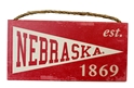 Husker Heritage Wood Pennant Sign Nebraska Cornhuskers, N Huskers Metal Wall Sign