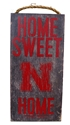 Husker Home Sweet Home Wood Sign Nebraska Cornhuskers, N Huskers Metal Wall Sign