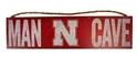 Husker Man Cave Wood Wall Sign Nebraska Cornhuskers, N Huskers Metal Wall Sign