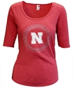 Husker N Galaxy Scoop Neck Nebraska Cornhuskers, Nebraska  Ladies Tops, Huskers  Ladies Tops, Nebraska  Ladies T-Shirts, Huskers  Ladies T-Shirts, Nebraska  Ladies, Huskers  Ladies, Nebraska Red W 34 Sleeve Bling Circle Scoop Neck Cornborn, Huskers Red W 34 Sleeve Bling Circle Scoop Neck Cornborn
