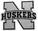 Husker N Tonal Silver Bling Decal Nebraska Cornhuskers, Nebraska Vehicle, Huskers Vehicle, Nebraska Husker N Tonal Silver Bling Decal, Huskers Husker N Tonal Silver Bling Decal
