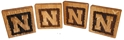 Husker N Wood 4 Pack Bottle Opener Coaster Set Nebraska Cornhuskers, Nebraska  Office Den & Entry, Huskers  Office Den & Entry, Nebraska  Game Room & Big Red Room, Huskers  Game Room & Big Red Room, Nebraska GBR Wood 4 Pack Bottle Opener Coaster Set, Huskers GBR Wood 4 Pack Bottle Opener Coaster Set