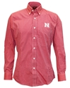Husker Striped LS Button Up Shirt Nebraska Cornhuskers, Nebraska  Mens T-Shirts, Huskers  Mens T-Shirts, Nebraska  Long Sleeve, Huskers  Long Sleeve, Nebraska  Mens, Huskers  Mens, Nebraska Mens Red and White Stripe L/S Button UP, Huskers Mens Red and White Stripe L/S Button UP