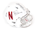 Husker Toms Autographed Alternate Chrome Speed Helmet Nebraska Cornhuskers, Nebraska  Former Players, Huskers  Former Players, Nebraska  Balls & Helmets, Huskers  Balls & Helmets, Nebraska Collectibles , Huskers Collectibles , Nebraska Martinez Autographed Unrivaled Mini Helmet, Huskers Martinez Autographed Unrivaled Mini Helmet