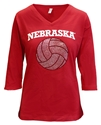 Nebraska Bling Volleyball Love Red VNeck Nebraska Cornhuskers, Nebraska  Ladies Tops, Huskers  Ladies Tops, Nebraska  Ladies T-Shirts, Huskers  Ladies T-Shirts, Nebraska  Ladies, Huskers  Ladies, Nebraska Volleyball, Huskers Volleyball, Nebraska Red W Volleyball 34 Vneck Tee Cornborn, Huskers Red W Volleyball 34 Vneck Tee Cornborn