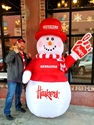 Huskered Up 7 Foot Inflatable Frosty! Nebraska Cornhuskers, Nebraska  Patio, Lawn & Garden, Huskers  Patio, Lawn & Garden, Nebraska  Novelty, Huskers  Novelty, Nebraska  Holiday Items, Huskers  Holiday Items, Nebraska Inflatable Snowman 7 Foot Boelter, Huskers Inflatable Snowman 7 Foot Boelter