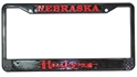 Nebraska Huskers Black License Frame Nebraska Cornhuskers, Nebraska Vehicle, Huskers Vehicle, Nebraska Huskers Black License Frame , Huskers Huskers Black License Frame