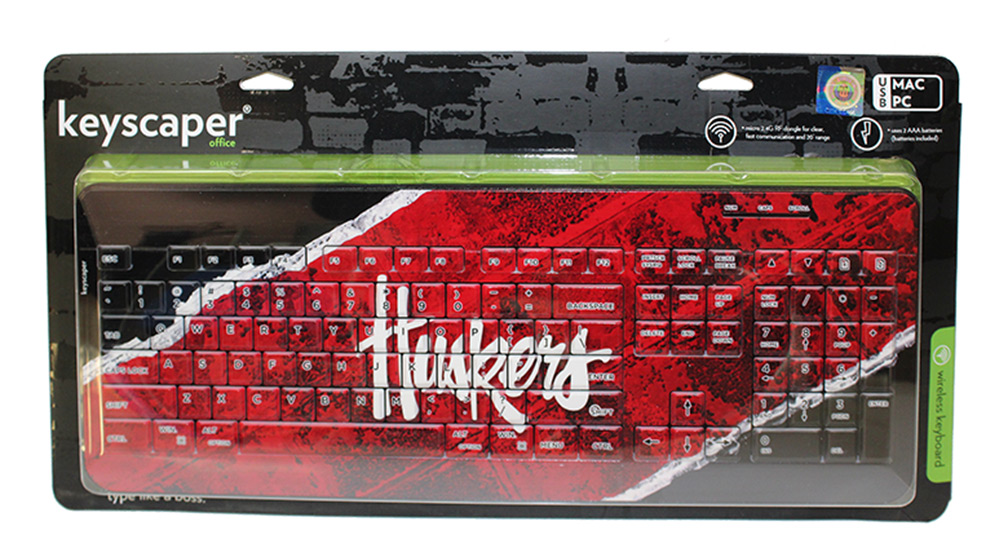 Huskers Brick Wireless Keyboard Nebraska Cornhuskers, Nebraska  Office Den & Entry, Huskers  Office Den & Entry, Nebraska Huskers Brick Wireless Keyboard, Huskers Huskers Brick Wireless Keyboard