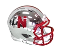Huskers Chrome Mini Helmet Nebraska Cornhuskers, Nebraska Collectibles, Huskers Collectibles, Nebraska 2018 Alternate Mini Helmet, Huskers 2018 Alternate Mini Helmet