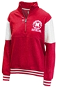 Huskers NU Seal Mock Neck Quarter Zip Nebraska Cornhuskers, Nebraska  Ladies Sweatshirts, Huskers  Ladies Sweatshirts, Nebraska  Ladies, Huskers  Ladies, Nebraska Red W Two Tone Mock Neck Zip PB, Huskers Red W Two Tone Mock Neck Zip PB