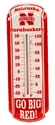 Huskers Outdoor Wall-Mount Thermometer Nebraska Cornhuskers, 11 INCH THERMOMETER