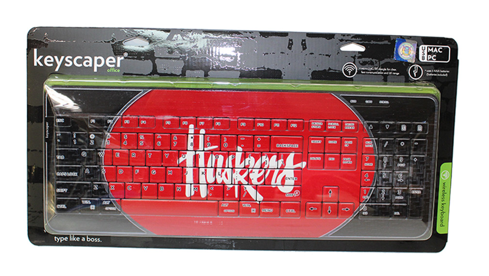 Huskers Primary Wireless Keyboard Nebraska Cornhuskers, Nebraska  Office Den & Entry, Huskers  Office Den & Entry, Nebraska Huskers Primary Wireless Keyboard, Huskers Huskers Primary Wireless Keyboard