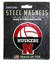 Huskers Volleyball Steel Magnet - 4 inch Nebraska Cornhuskers, Nebraska Stickers Decals & Magnets, Huskers Stickers Decals & Magnets, Nebraska Volleyball, Huskers Volleyball, Nebraska Huskers Volleyball Steel Magnet - 4 inch , Huskers Huskers Volleyball Steel Magnet - 4 inch