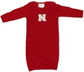 Infant Girls Layette Gown with White N Nebraska Cornhuskers, Nebraska  Infant, Huskers  Infant, Nebraska  Kids, Huskers  Kids, Nebraska  Long Sleeve, Huskers  Long Sleeve, Nebraska Infant Girls Layette Gown with White N, Huskers Infant Girls Layette Gown with White N