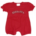 Infant Girls Red Romper with Bling N Nebraska Cornhuskers, Nebraska  Infant, Huskers  Infant, Nebraska  Kids, Huskers  Kids, Nebraska  Short Sleeve , Huskers  Short Sleeve , Nebraska Infant Girls Red Romper with Bling N, Huskers Infant Girls Red Romper with Bling N