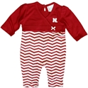 Infant Girls Red and White Chevron Long Leg Romper Nebraska Cornhuskers, Nebraska  Infant, Huskers  Infant, Nebraska  Kids, Huskers  Kids, Nebraska  Long Sleeve, Huskers  Long Sleeve, Nebraska Infant Girls Red and White Chevron Long Leg Romper, Huskers Infant Girls Red and White Chevron Long Leg Romper