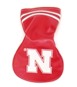 Iron N Leather Vintage Driver Cover Nebraska Cornhuskers, Nebraska Golf Items, Huskers Golf Items, Nebraska Iron N Leather Vintage Driver Cover, Huskers Iron N Leather Vintage Driver Cover