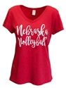 Ladies Nebraska Volleyball Serif VNeck Nebraska Cornhuskers, Nebraska  Ladies Tops, Huskers  Ladies Tops, Nebraska  Ladies T-Shirts, Huskers  Ladies T-Shirts, Nebraska  Ladies, Huskers  Ladies, Nebraska  Short Sleeve, Huskers  Short Sleeve, Nebraska Ladies Nebraska Volleyball Serif VNeck, Huskers Ladies Nebraska Volleyball Serif VNeck