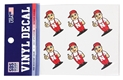 Lil Red Decal 6 Pack Set Nebraska Cornhuskers, Nebraska Stickers Decals & Magnets, Huskers Stickers Decals & Magnets, Nebraska Lil Red 6 pack Decal Sticker set, Huskers Lil Red 6 pack Decal Sticker set